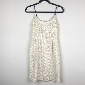 J. CREW | Ivory Lace Dress Mini Summer Chic Petite